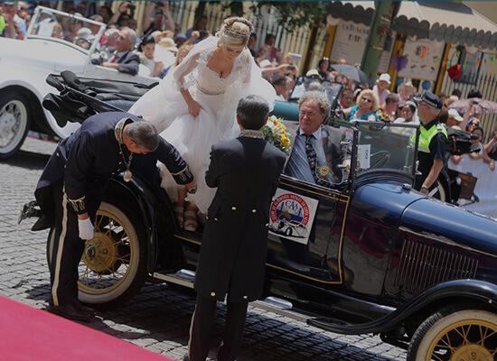 Car for wedding in Lisbon